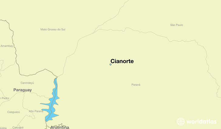 map showing the location of Cianorte