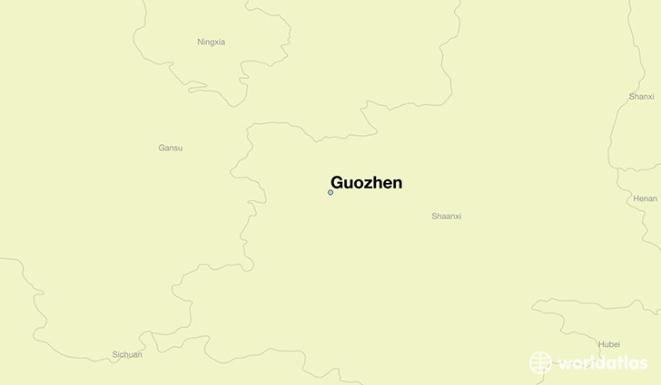 map showing the location of Guozhen
