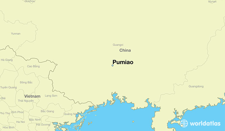 map showing the location of Pumiao