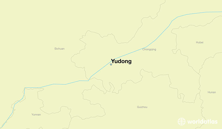 map showing the location of Yudong