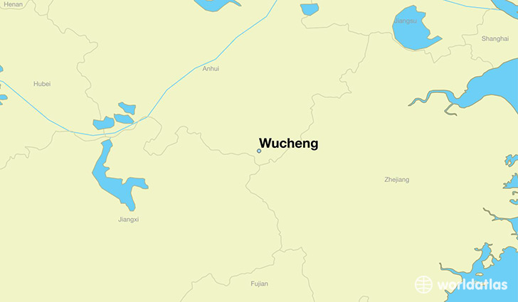 map showing the location of Wucheng