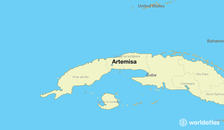 map showing the location of Artemisa