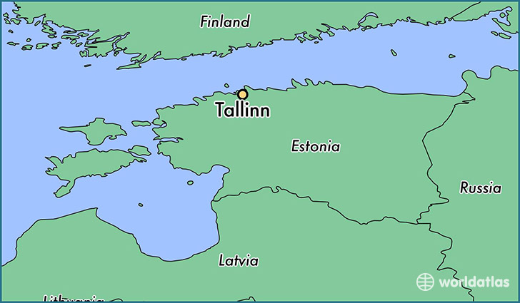 map showing the location of Tallinn