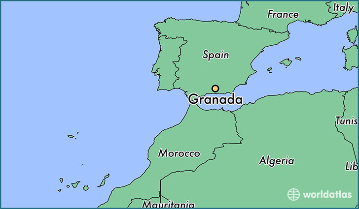 Where is Granada Spain Granada Andalusia Map WorldAtlascom