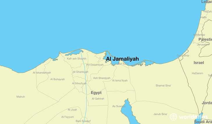 map showing the location of Al Jamaliyah
