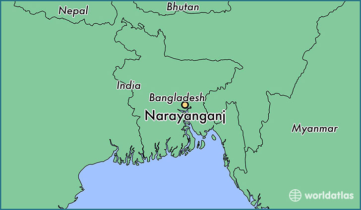 map showing the location of Narayanganj