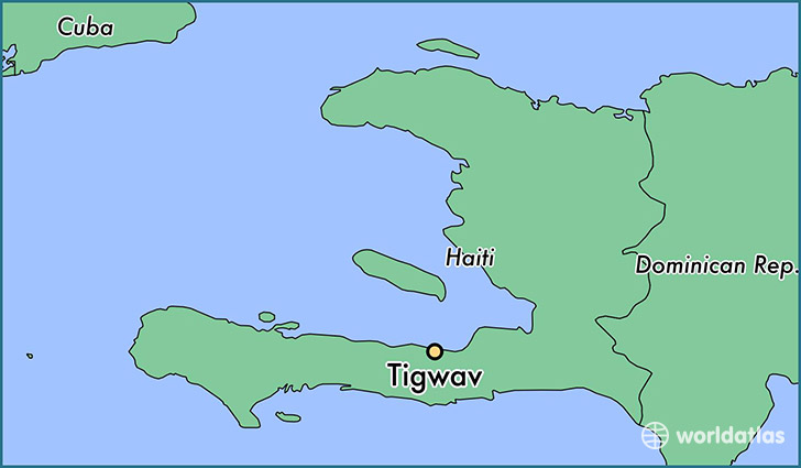 map showing the location of Tigwav