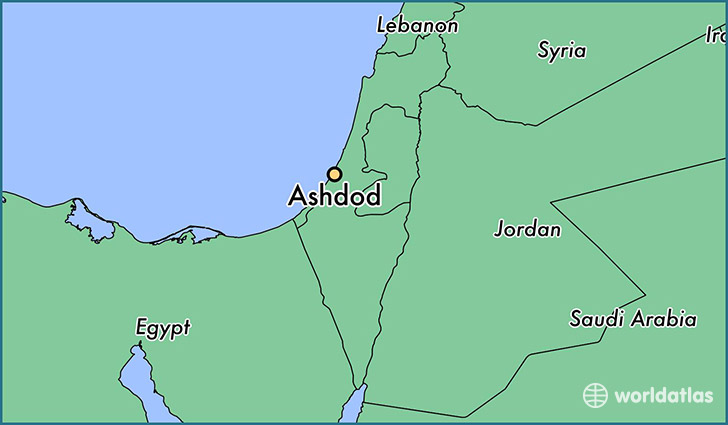 Where is Ashdod Israel Ashdod Southern District Map