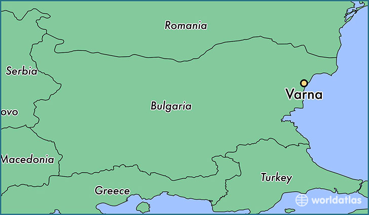 map showing the location of Varna