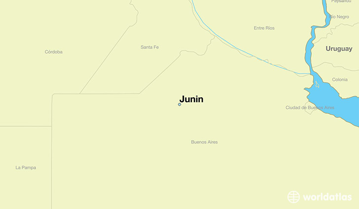 map showing the location of Junin