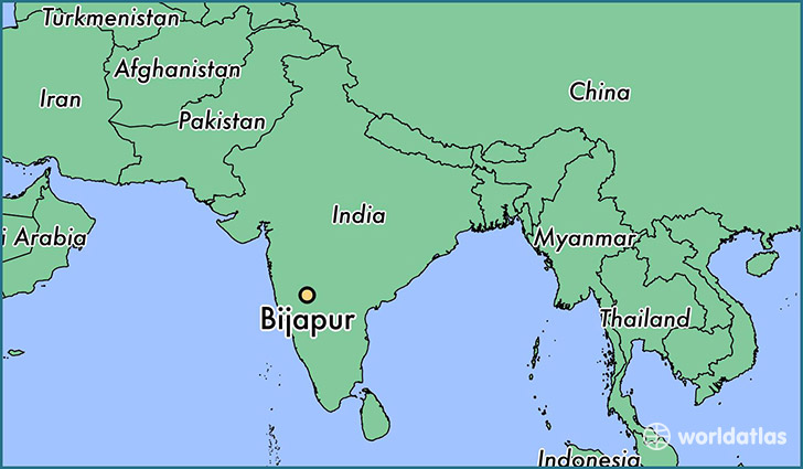 map showing the location of Bijapur