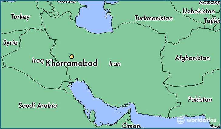 map showing the location of Khorramabad
