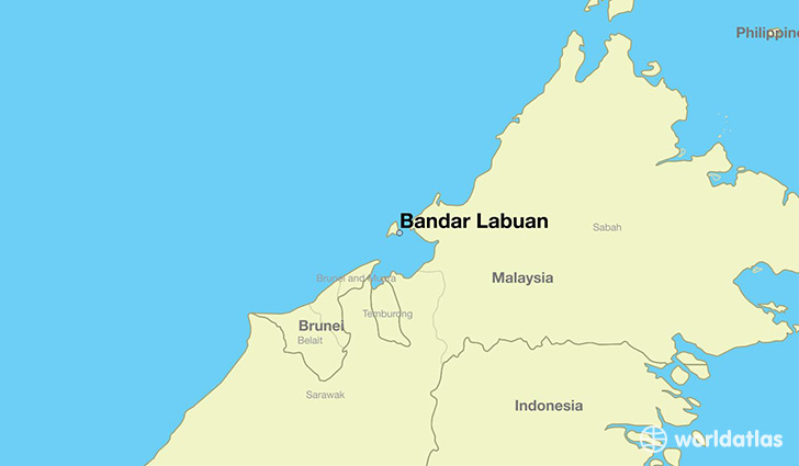 map showing the location of Bandar Labuan
