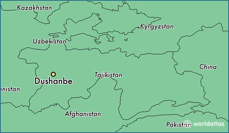 Where is Dushanbe Tajikistan Dushanbe Dushanbe Map WorldAtlascom