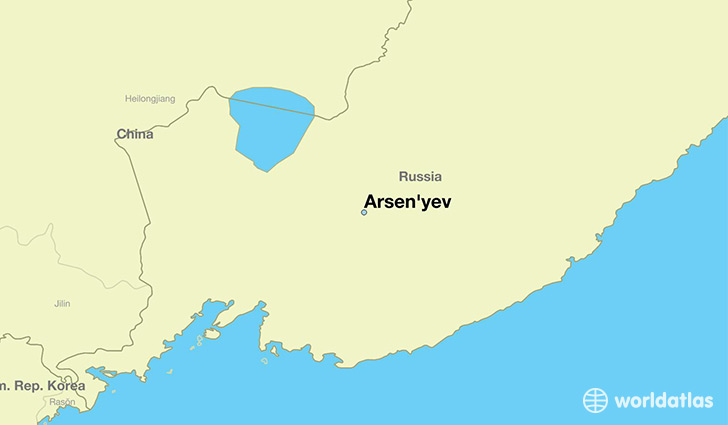 map showing the location of Arsen'yev