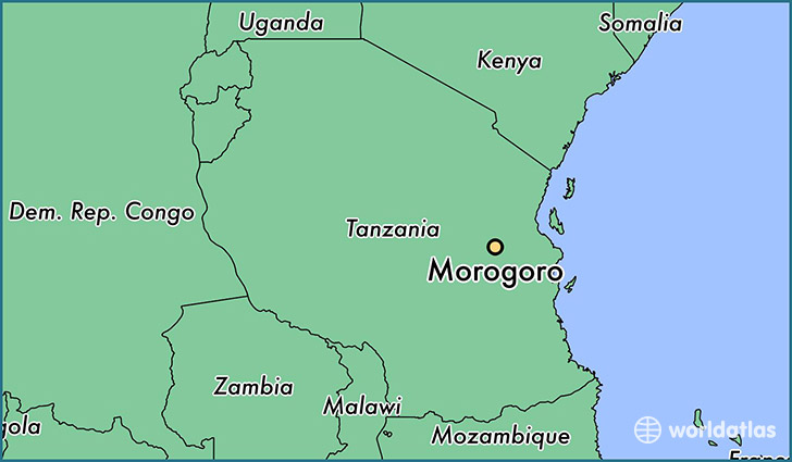 map showing the location of Morogoro