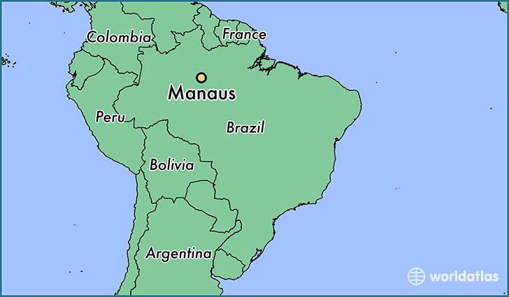 map showing the location of Manaus