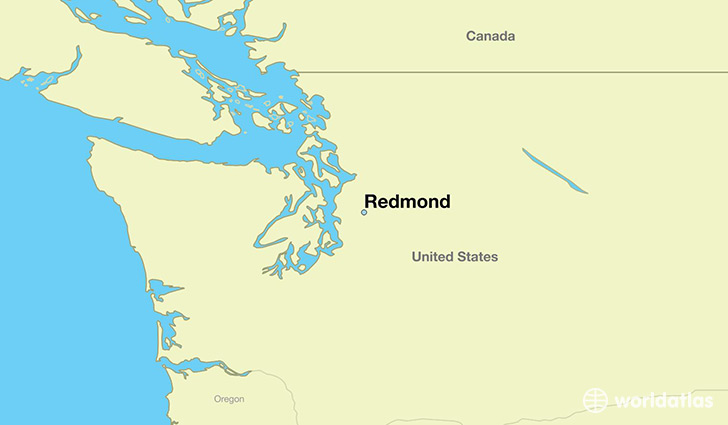 map showing the location of Redmond