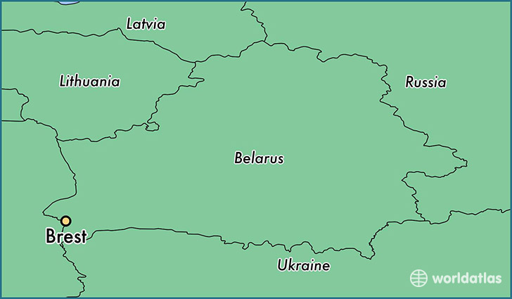 Where Is Brest Belarus Brest Brest Map Worldatlas Com