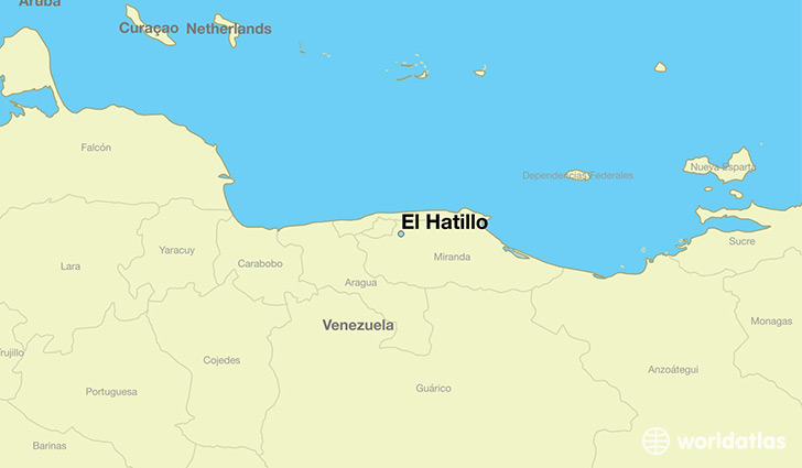 map showing the location of El Hatillo