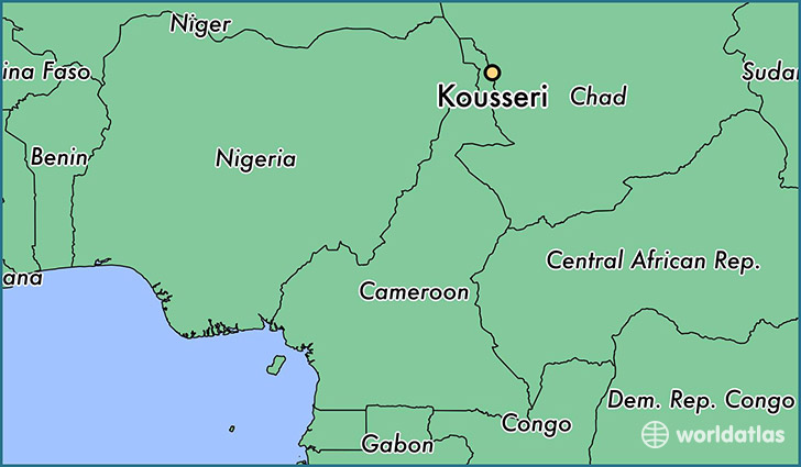 map showing the location of Kousseri