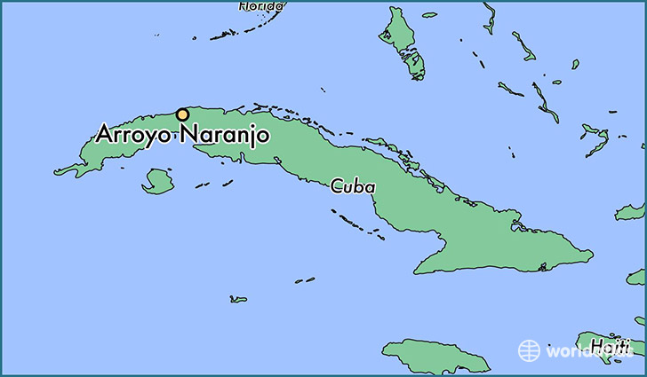 map showing the location of Arroyo Naranjo