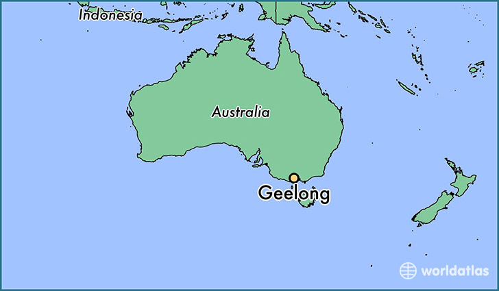 map showing the location of Geelong