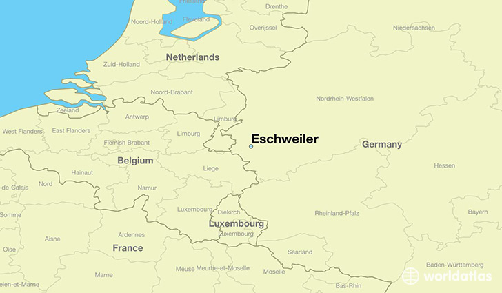 map showing the location of Eschweiler