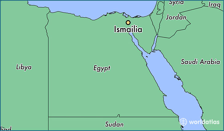map showing the location of Ismailia