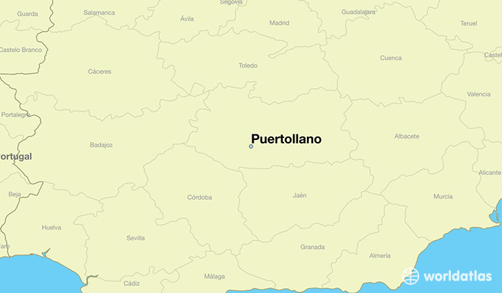 map showing the location of Puertollano