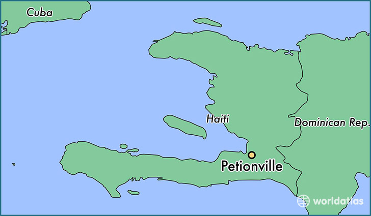 map showing the location of Petionville