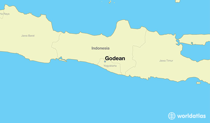 map showing the location of Godean