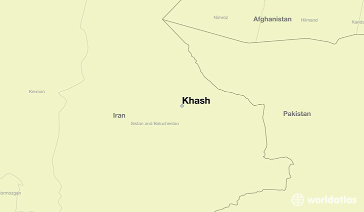 map showing the location of Khash