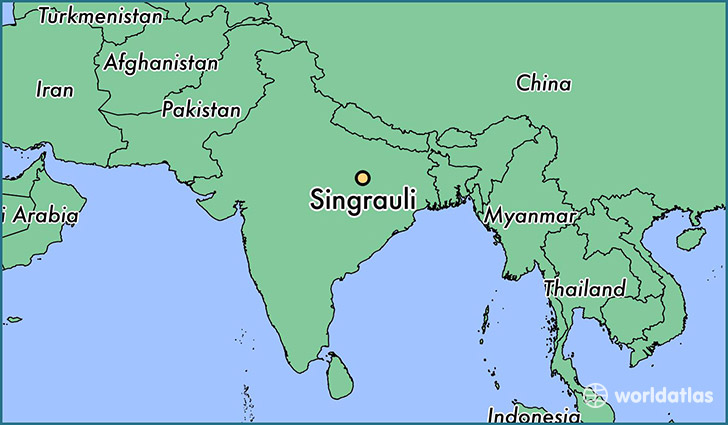 map showing the location of Singrauli