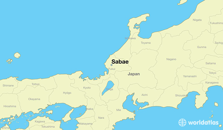 map showing the location of Sabae