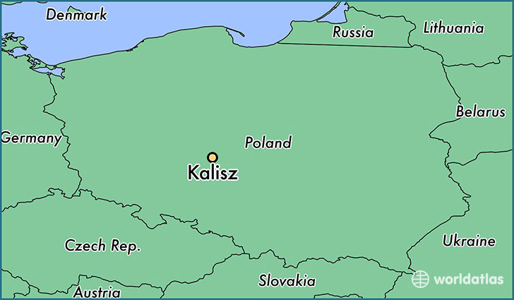 map showing the location of Kalisz