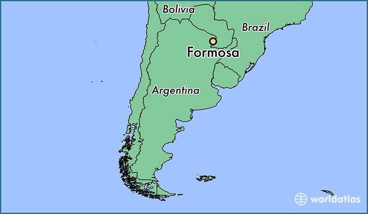 Where is formosa argentina formosa formosa map worldatlas map showing the location of formosa gumiabroncs Choice Image