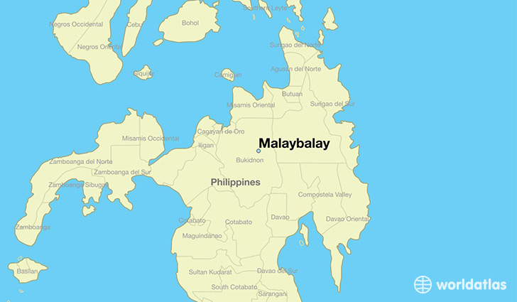 map showing the location of Malaybalay