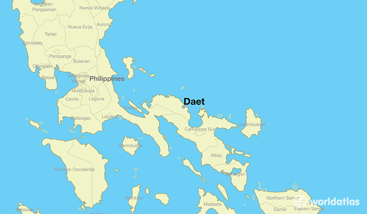 map showing the location of Daet