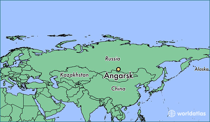 map showing the location of Angarsk