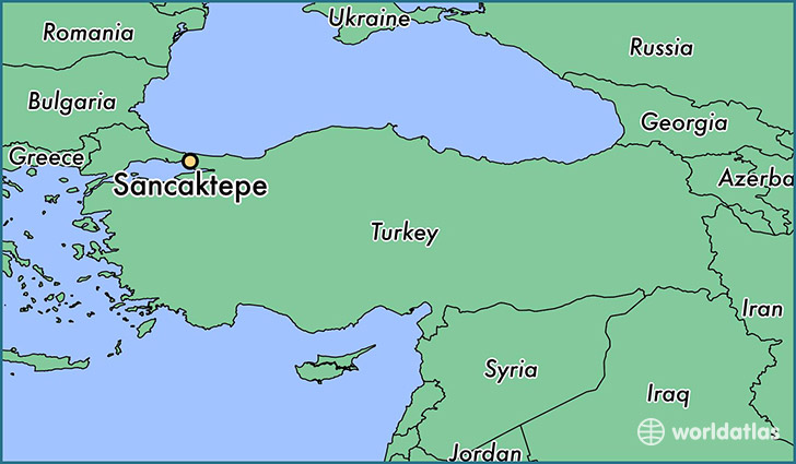 map showing the location of Sancaktepe