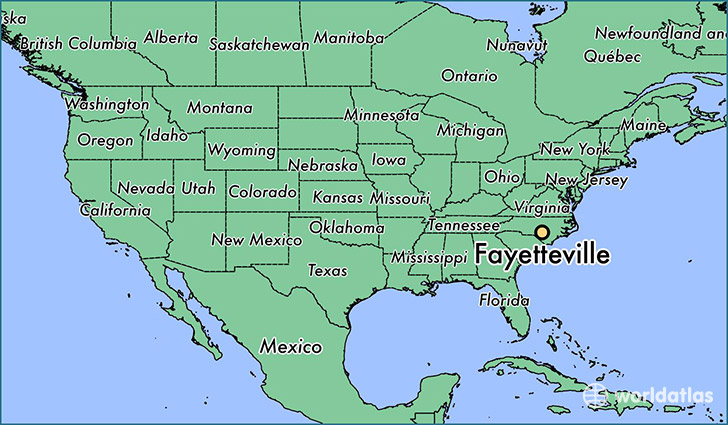 Map Of Fayetteville Nc Where is Fayetteville, NC? / Fayetteville, North Carolina Map