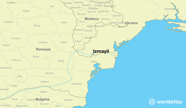 map showing the location of Izmayil