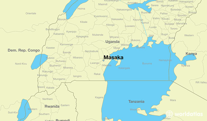 map showing the location of Masaka