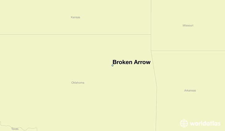 map showing the location of Broken Arrow