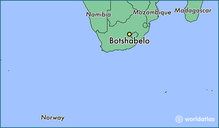 map showing the location of Botshabelo