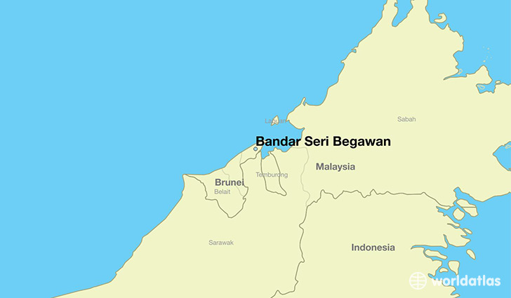 map showing the location of Bandar Seri Begawan