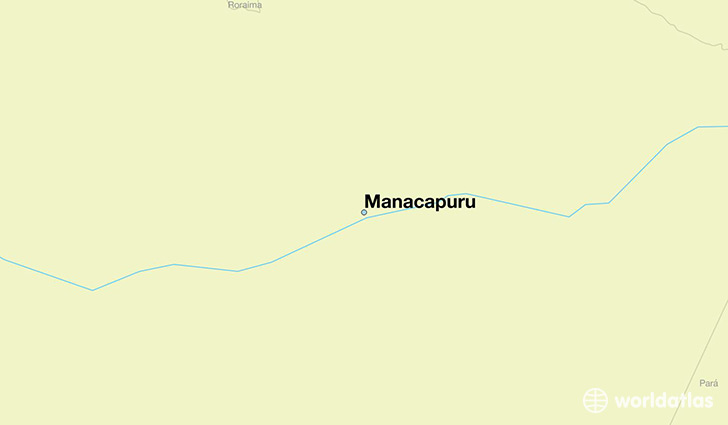 map showing the location of Manacapuru