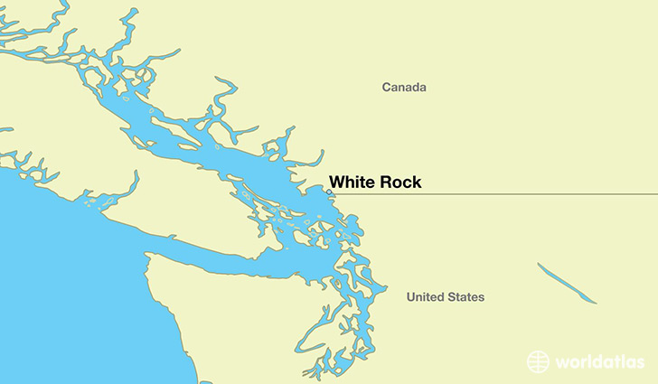 map showing the location of White Rock