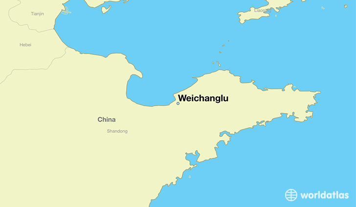 map showing the location of Weichanglu